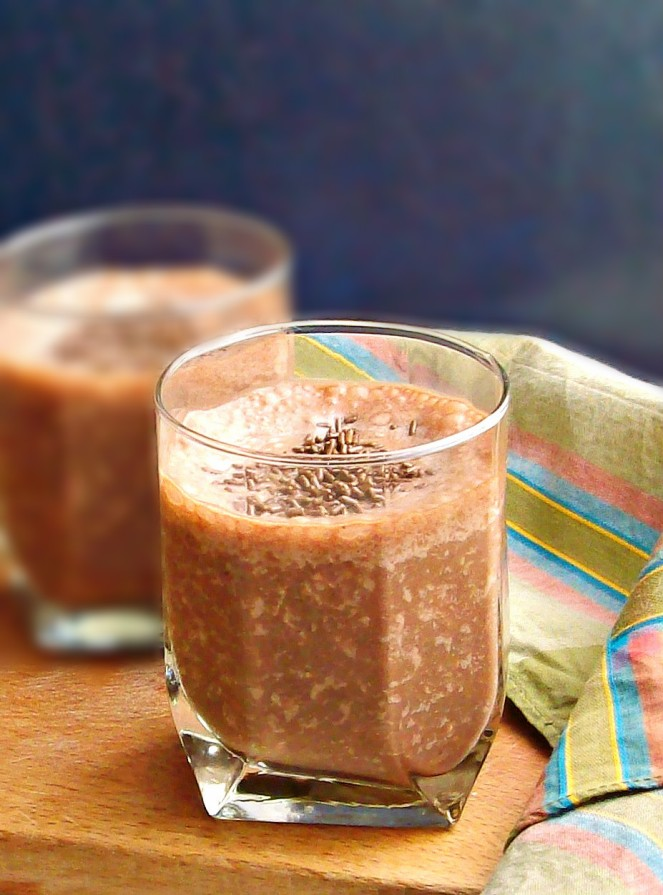 chocolate banana smoothie0