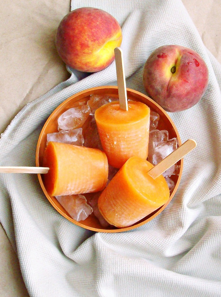 peach and melon popsicles1